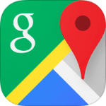 Google Maps 4.0 for iOS app icon small