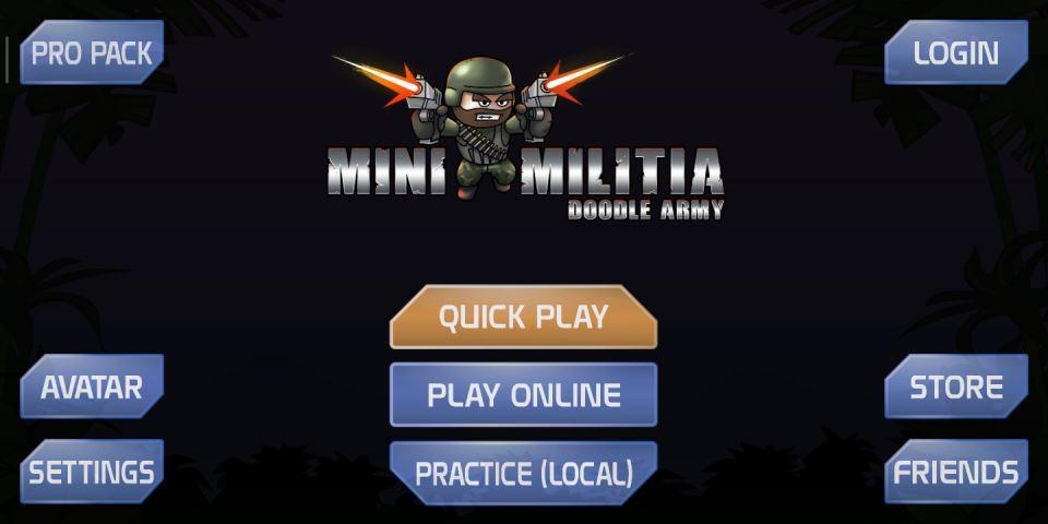 تحميل لعبة Mini Militia القديمة مجانا للاندرويد 1